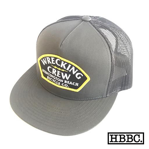HBBC Classic Trucker snapback hat – WRECKING CREW – GREY ... 1a27fab7fbf